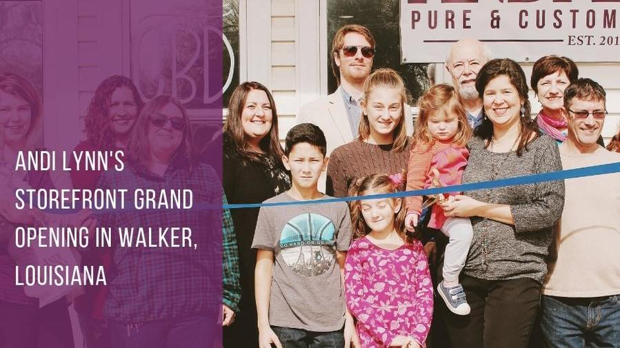 Andi Lynn's Storefront Grand Opening In Walker, Louisiana